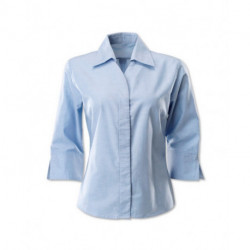 Chemisier femme oxford a manches 3/4