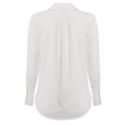 Chemisier femme Oxford a manches longues