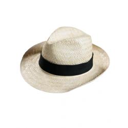 Chapeau de paille naturelle claire et légère publicitaire Classic unisexe Serie-Graffic
