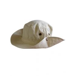 Chapeau de Safari en coton beige épais unisexe Serie-Graffic